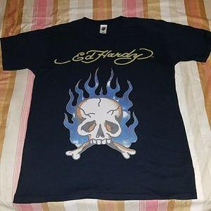 ED HARDY Skull & Flames t-shirt